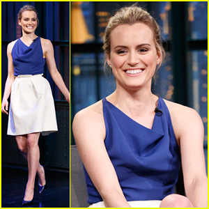 Taylor Schilling Talks President Obama Being A Huge 'Orange Is the New Black' Fan on 'Late Night'!