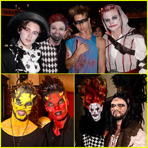 The Vamps, The Wanted, & Tokio Hotel Go All Out with AT&T at Just Jared's Halloween Party!