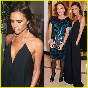 Victoria Beckham Presents Fashion Icon Award to Diane Von Furstenberg at 'Harper's Bazaar' Women Of The Year Awards
