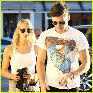 Zac Efron Accompanies Sami Miro To Modeling Meeting