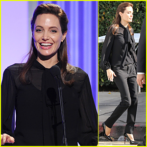 Angelina Jolie Gives Out Scholarship at THR Women in Entertainment Breakfast