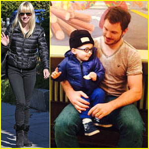 Anna Faris Shares Adorable Photo of Chris Pratt & Son Jack on 'Parks & Recreation' Set