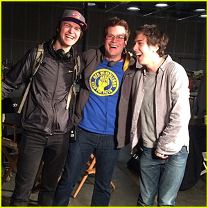 Ansel Elgort Visits 'TFIOS' Friends John Green & Nat Wolff on 'Paper Towns' Set