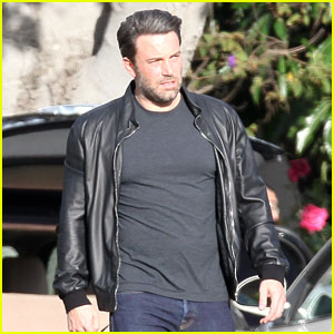 Ben Affleck Looks Buff in a Tight Black Shirt