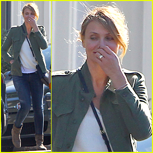 Cameron Diaz Flashes Huge Ring After Engagement News