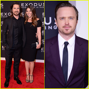 Christian Bale & Aaron Paul Bring Out the Stars for 'Exodus: Gods and Kings' New York Premiere!