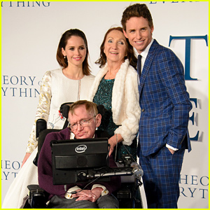 Eddie Redmayne & Felicity Jones Meet Up with the Real Stephen & Jane Hawking at 'Theory of Everything' Premiere!