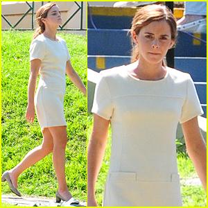 Emma Watson Keeps Herself Busy on Movie Set After Matthew Janney Split