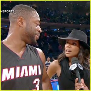 Gabrielle Union Videobombs Dwyane Wade During Post-Game Interview!