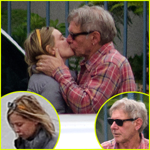 Harrison Ford Plants Passionate Kiss on Wife Calista Flockhart After Thanksgiving Weekend