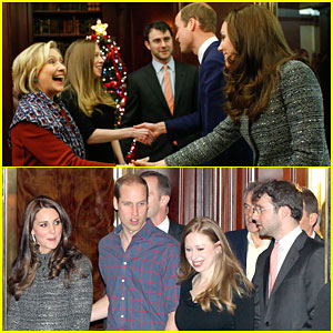 Hilary Clinton Looks So Excited to Meet Up with Kate Middleton & Prince William