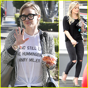 Hilary Duff's Thick-Rimmed Eyeglasses Make Her Look So Smart Chic!