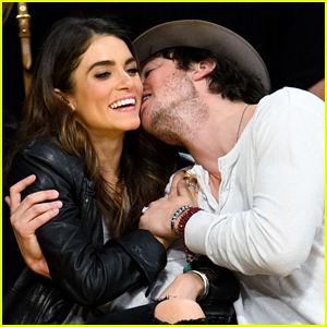 Ian Somerhalder Gives Nikki Reed a Cute Kiss at Lakers Game