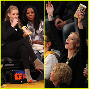 Iggy Azalea Cheers On Her Beau Nick Young at the Lakers Game!