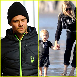 Josh Duhamel Shares Cute Photo of Fergie & Axl at the Beach