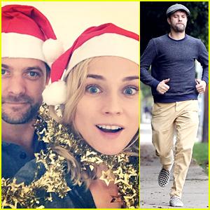 Joshua Jackson & Diane Kruger Took the Cutest Christmas Card Selfie!