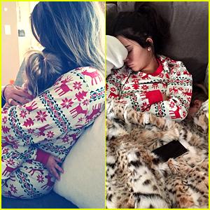 Khloe Kardashian & Kendall Jenner Cuddle with Niece Penelope in Matching Christmas Pajamas!