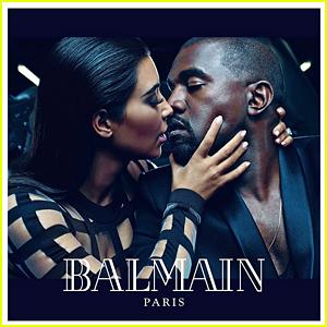 Kim Kardashian & Kanye West Share Steamy Kiss for 'Balmain' Campaign!