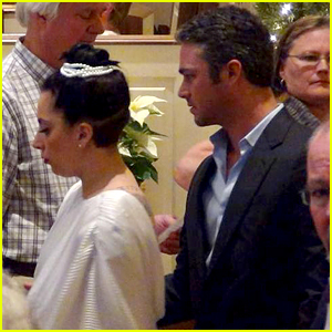 Lady Gaga & Taylor Kinney Attend Church in His Hometown