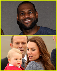 LeBron James Photoshopped a Cavaliers Jersey On Prince George