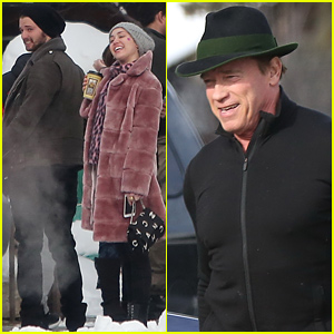 Miley Cyrus & Patrick Schwarzenegger Meet Up with His Dad Arnold Over the Holidays!