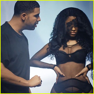Nicki Minaj Flaunts Sexy Cleavage with Drake & Chris Brown in New 'Only' Music Video - Watch Now!