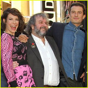 Orlando Bloom & Evangeline Lilly Support 'Hobbit' Director Peter Jackson For His Big Moment!