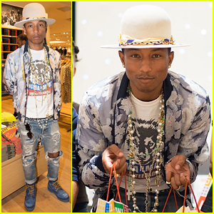Pharrell Williams Helps Uniqlo Host Charity Shopping Event for Children in Need!