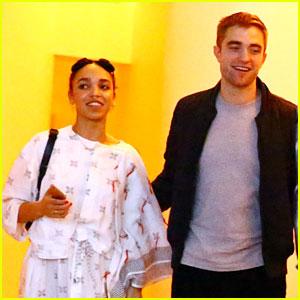 Robert Pattinson Holds On Tight to Girlfriend FKA twigs