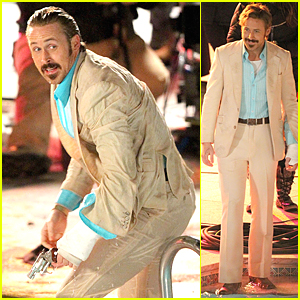 Soakin' Wet Ryan Gosling Heats Up a Freezing Cold Pool For 'Nice Guys'