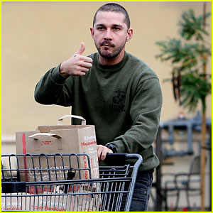 Shia LaBeouf Gives Grocery Shopping A Big Thumbs Up
