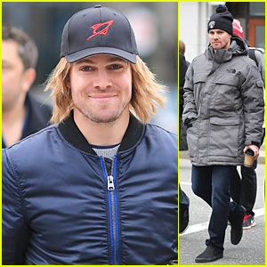 Stephen Amell's Wig Gets Some Attention From Luke Mitchell