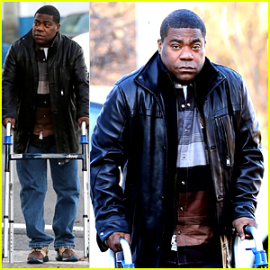 Tracy Morgan Uses His Walker After His Case Against Walmart Moves Forward