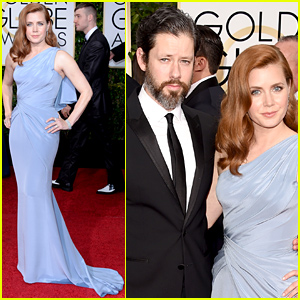 Nominee Amy Adams Hits the Golden Globes 2015 Red Carpet with Darren Le Gallo!