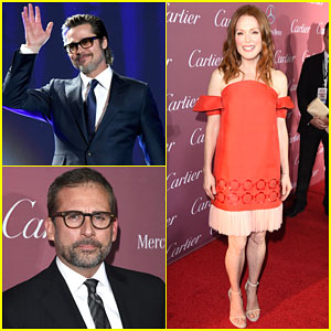 Brad Pitt & Julianne Moore Get All Dressed Up for the Palm Springs Film Festival