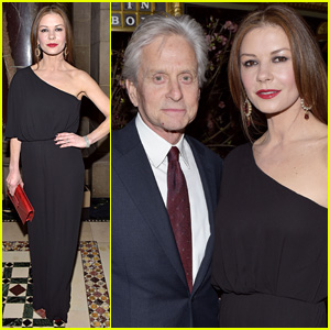 Catherine Zeta-Jones & Michael Douglas Dine in Style in NYC