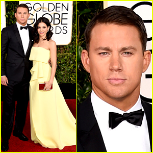 Channing Tatum Has a Serious Tan at Golden Globes 2015