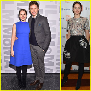 Eddie Redmayne & Felicity Jones Buddy Up to Promote 'The Theory of Everything'