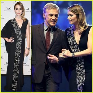 Emily Blunt Puts On Her Best to Join Christoph Waltz & Adriana Lima in Switzerland for IWC Booth & Gala Dinner!
