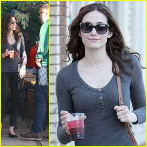 Emmy Rossum Lunches Out In Los Angeles After Announcing CDGA17 Hosting Gig
