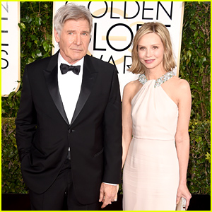Harrison Ford & Calista Flockhart Hold Hands at the Golden Globes 2015