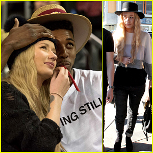 Iggy Azalea Licks Boyfriend Nick Young's Face on the Kiss Cam!