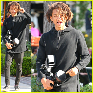 Jaden Smith Brings a Very Large Camera Out to Lunch