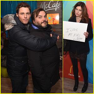 James Marsden & Jack Black Get Their Cuddle On at Sundance