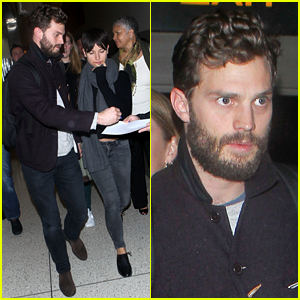 Jamie Dornan Is Enjoying All the Free Swag He Gets
