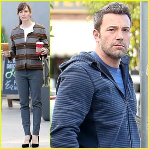 Ben Affleck & Jennifer Garner Wake Up & Grab Coffees Together