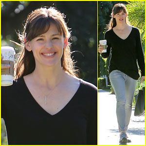 Jennifer Garner Looks Very Energized After Her Morning Coffee