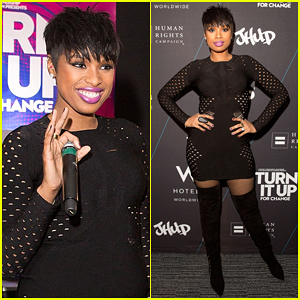 Jennifer Hudson Touches Down in Chicago for Second 'Turn It Up For Change' Event!
