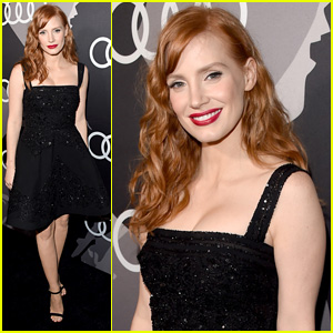 Jessica Chastain Sparkles at Audi Pre-Golden Globes Party 2015