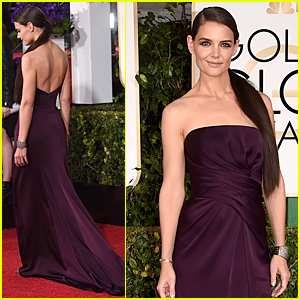 Katie Holmes Bares Her Back on Golden Globes 2015 Red Carpet